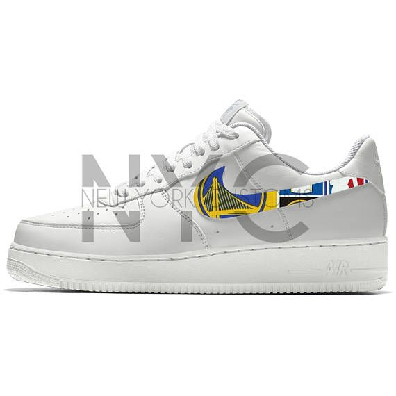 low priced 89ff0 c8197 NYCustoms - Golden State Warriors Nike Air Force 1 Custom