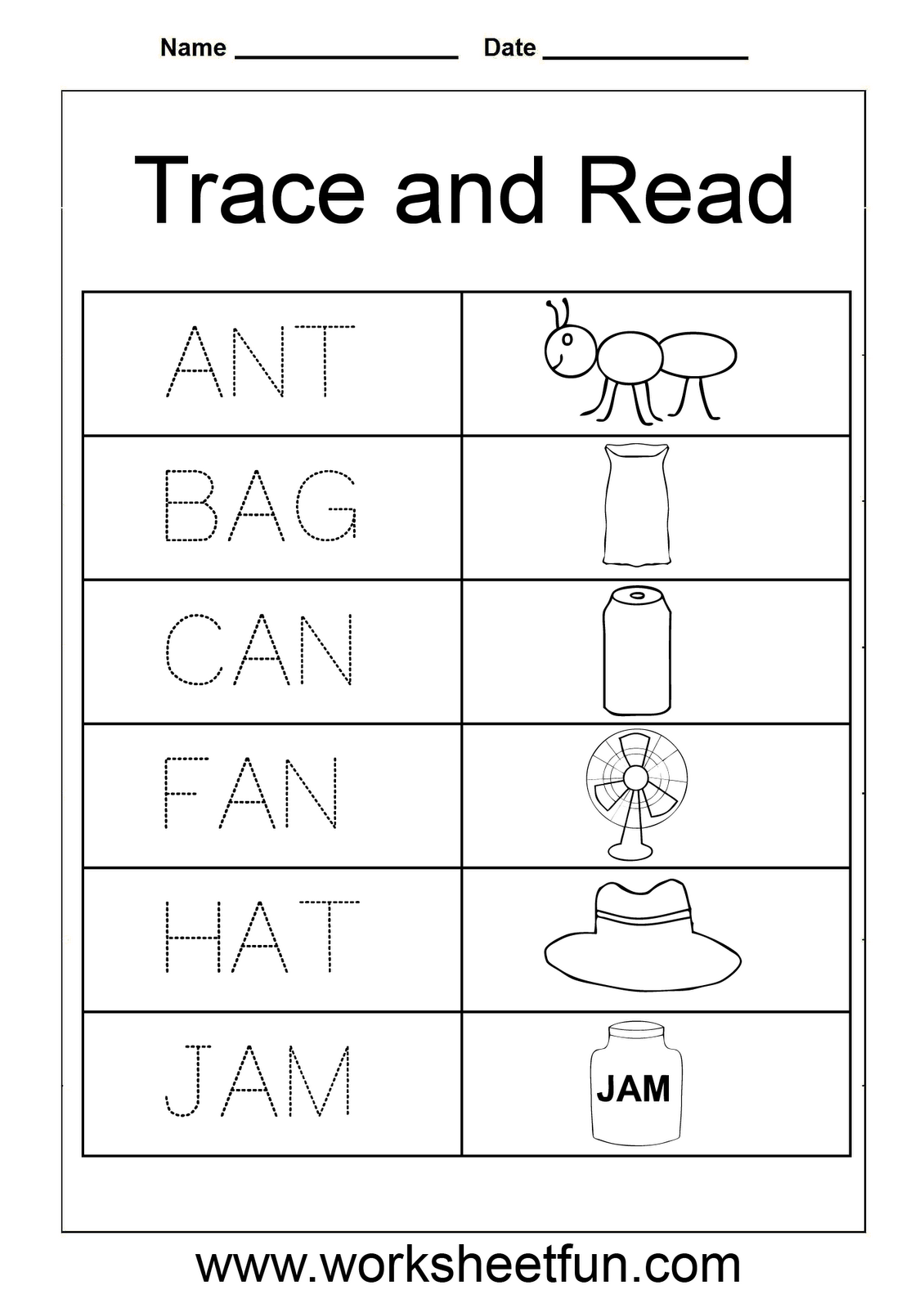 Trace And Read M Worksheet 1 With Images