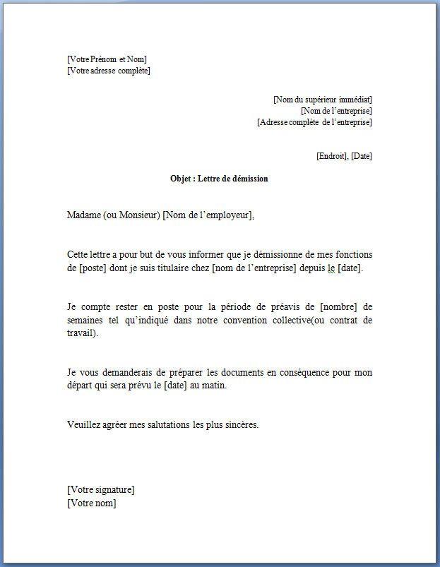 lettre demission remise en main propre photos de lettre de d u00e9mission pour un cdi contrat  u00e0 dur u00e9e