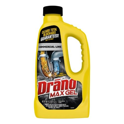 Drano Max Gel Clog Remover 42 Oz Drain Cleaner How To Remove