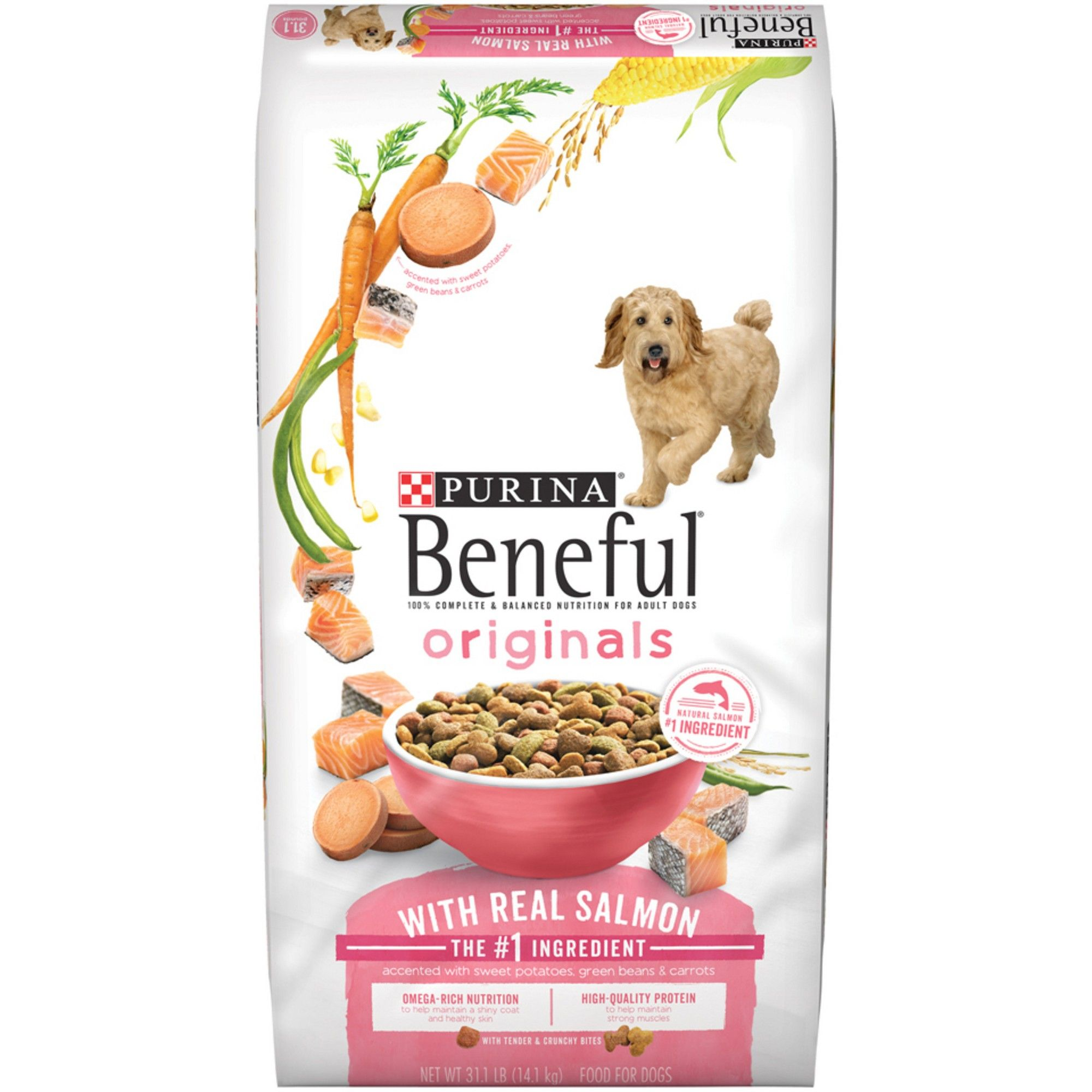 Purina Beneful Originals Real Salmon Dry Dog Food 28lbs Dog