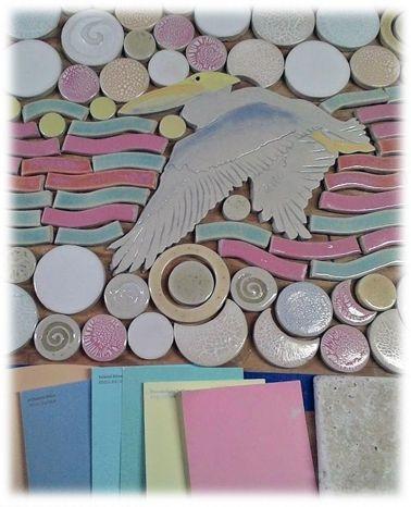 Custom Handmade Ceramic Tile Beach Themed Fireplace Tile Mozaic - Beach themed ceramic tile