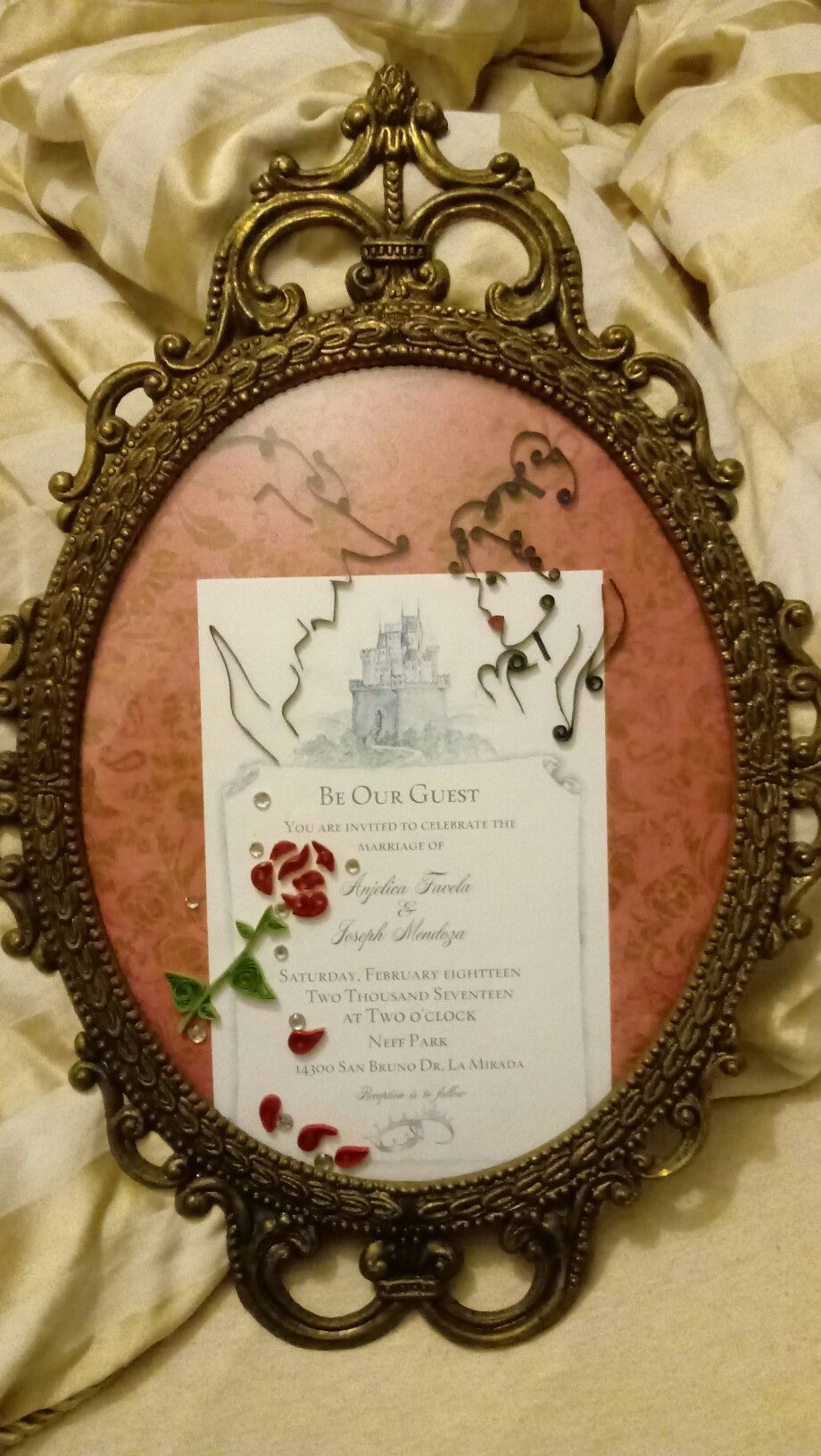 Wedding Invitation For A Beauty And The Beast Wedding Artist