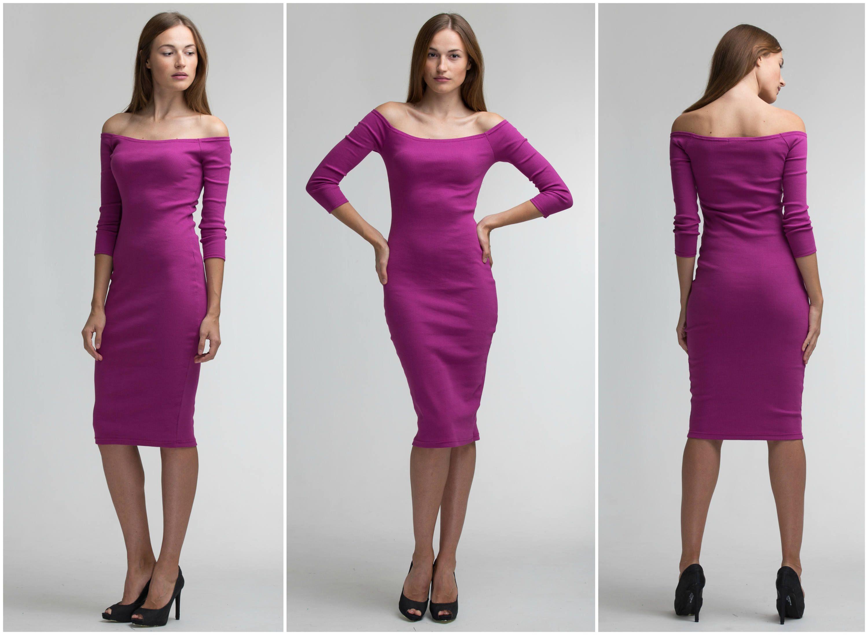 Long Sleeve Cocktail Dress Woman Dress XL Off Shoulder Dress | Clem ...