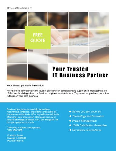 Your Trusted Partner  Free Flyer Template By HloomCom  Template