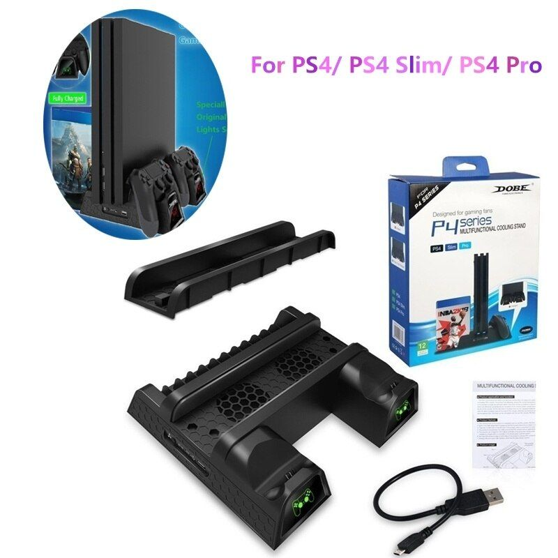 Yujuser For Ps4 Ps4 Slim Ps4 Pro Cooler Multifunctional Vertical