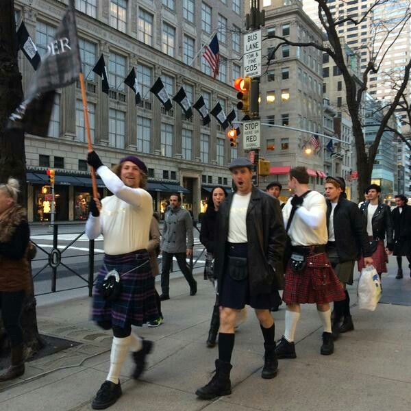 *Pics* It's a #TartanAffair in NYC for the Premiere of Outlander