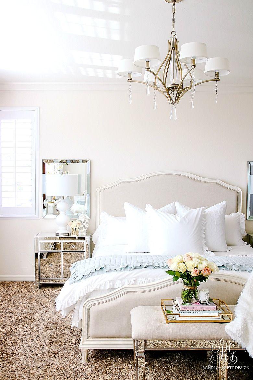 Elegant Master Bedroom Makeover Dark To Light Randi Garrett Design Elegant Master Bedroom Master Bedroom Makeover Bedroom Colors