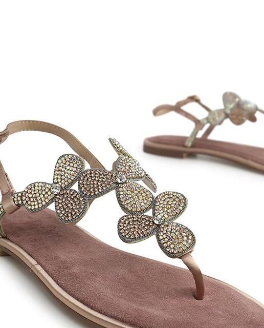 el precio se mantiene estable la mejor actitud diseñador nuevo y usado Sandalias planas de mujer Alma en Pena de ante moradas con ...