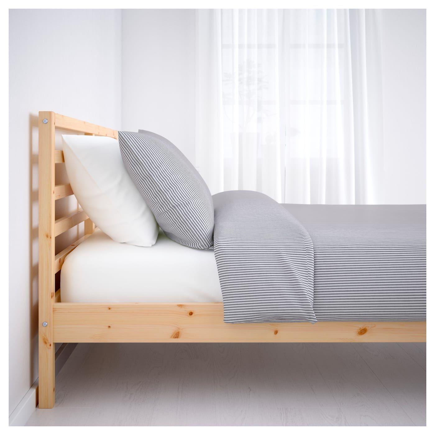 Tarva Bedframe Grenen 90x200 Cm Ikea Ikea Bett Gepolsterter Kopfteil Bettgestell