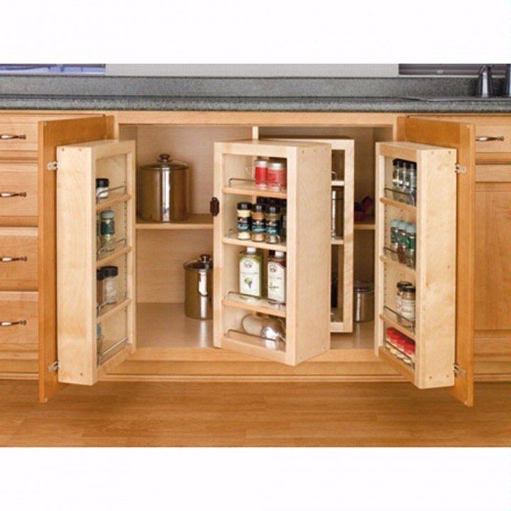 Upper Kitchen Cabinet Woodworking Plans: Swing Out Complete Pantry System, Rev-a-Shelf 4W Series