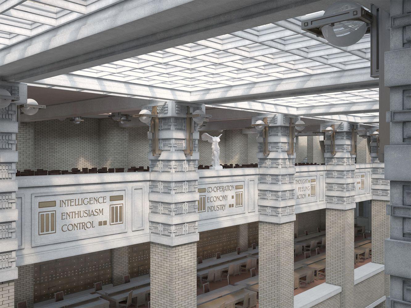 Galería de David Romero recrea obras desaparecidas de Frank Lloyd Wright en estas realistas imágenes - 9