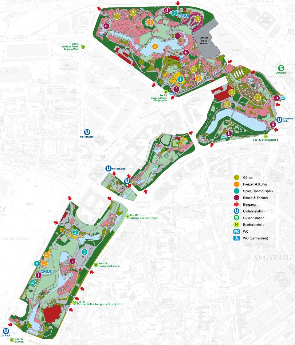 Parkplan Der Park Hamburg Hamburg Meine Perle Urlaubstipps