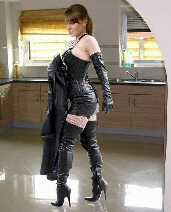 Milf in thigh boots