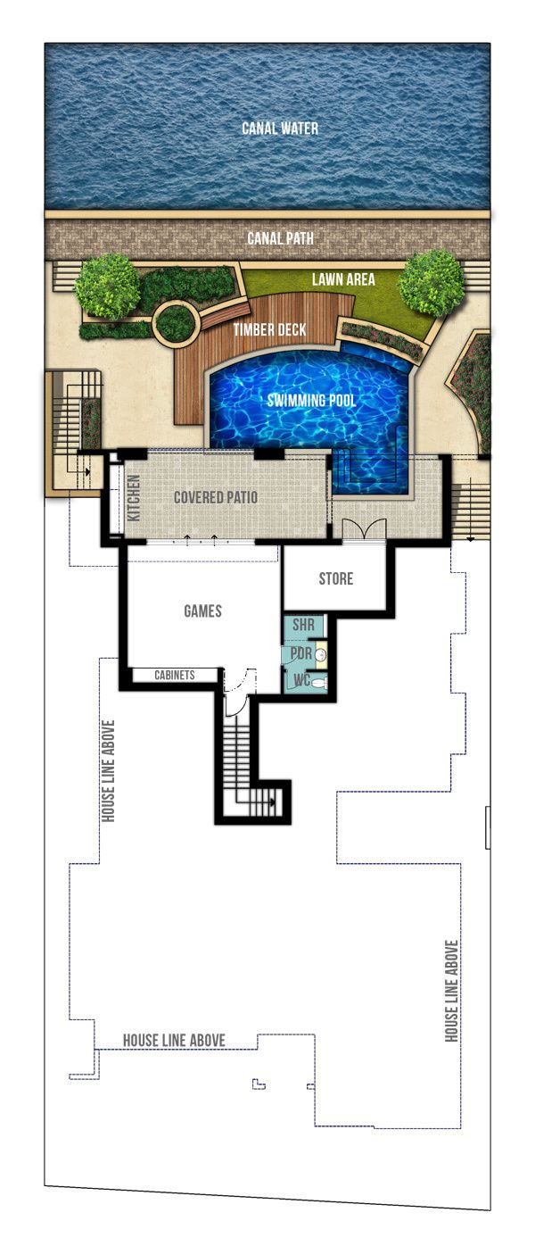 Reef undercroft, canal home design plans (first floor) by Boyd ...