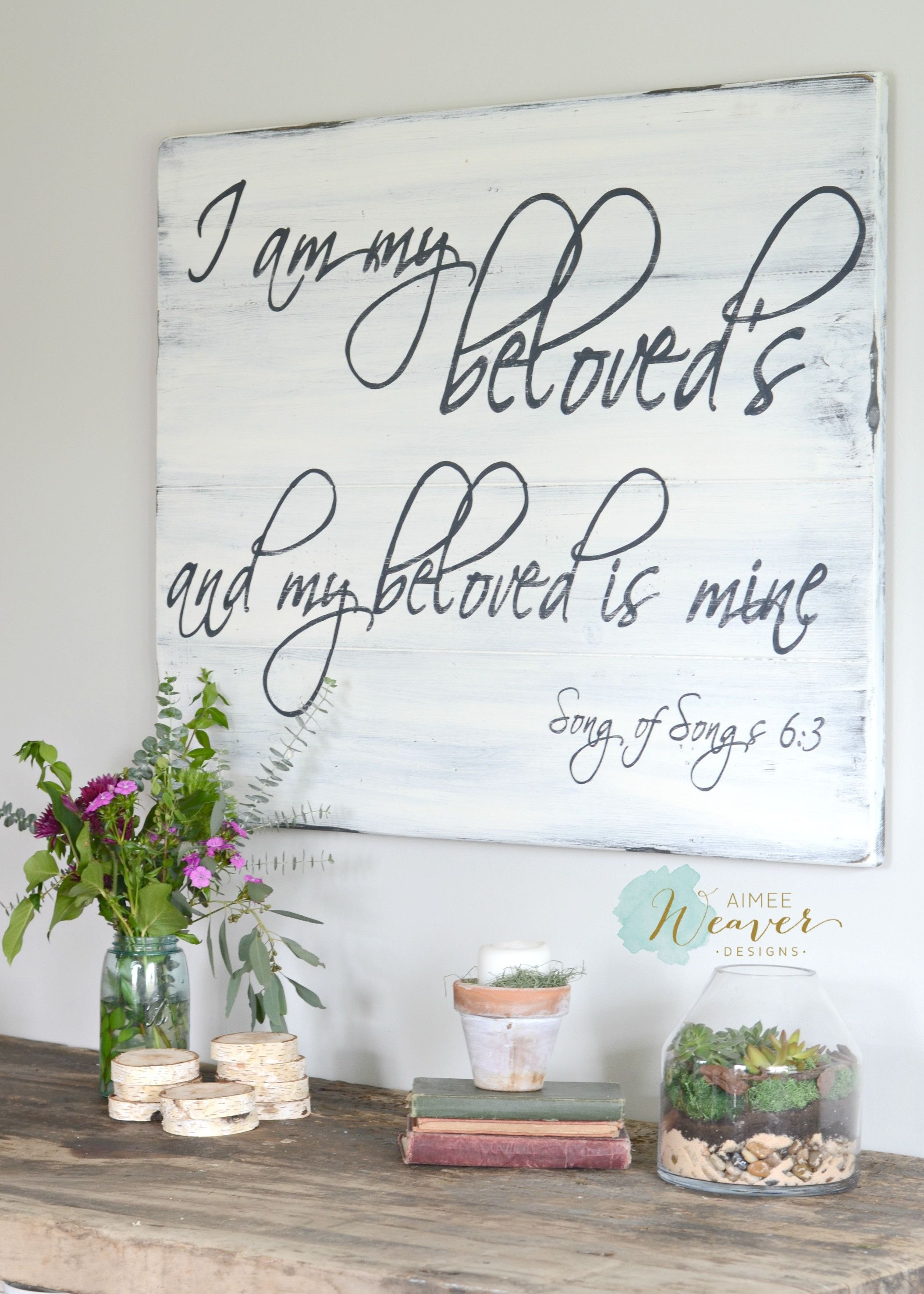 Diy home decor wood  Beloved Sign in   Decorating the House  Pinterest  DIY Home