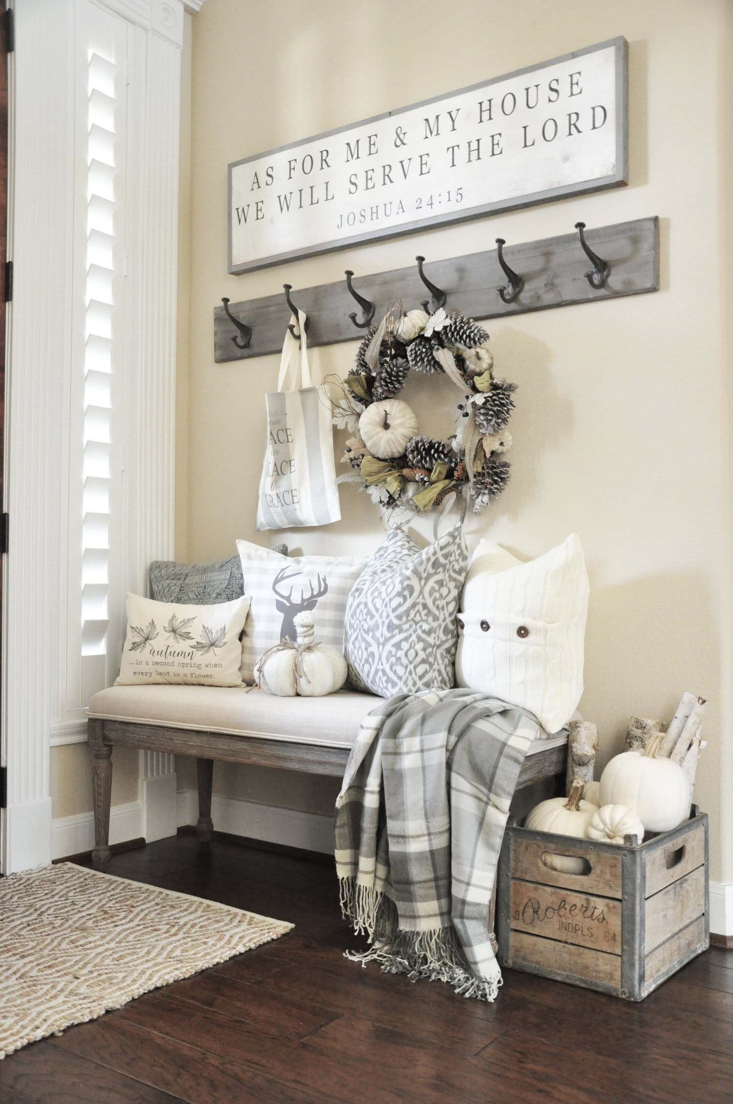 28 Welcoming fall-inspired entryway decorating ideas | Pinterest ...