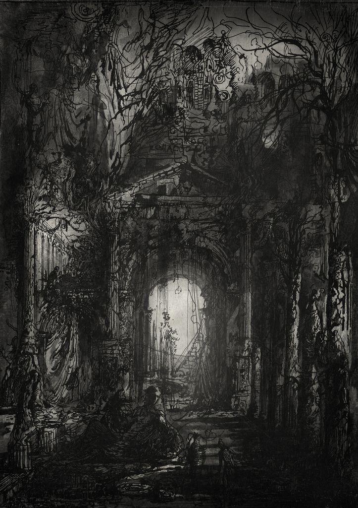 Alley of Lingering Sighs. | mixed media - Yaroslav Gerzhedovich