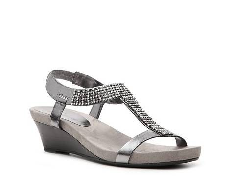 Kelly Amp Katie Madeline Wedge Sandal Dsw Bridal Shoes