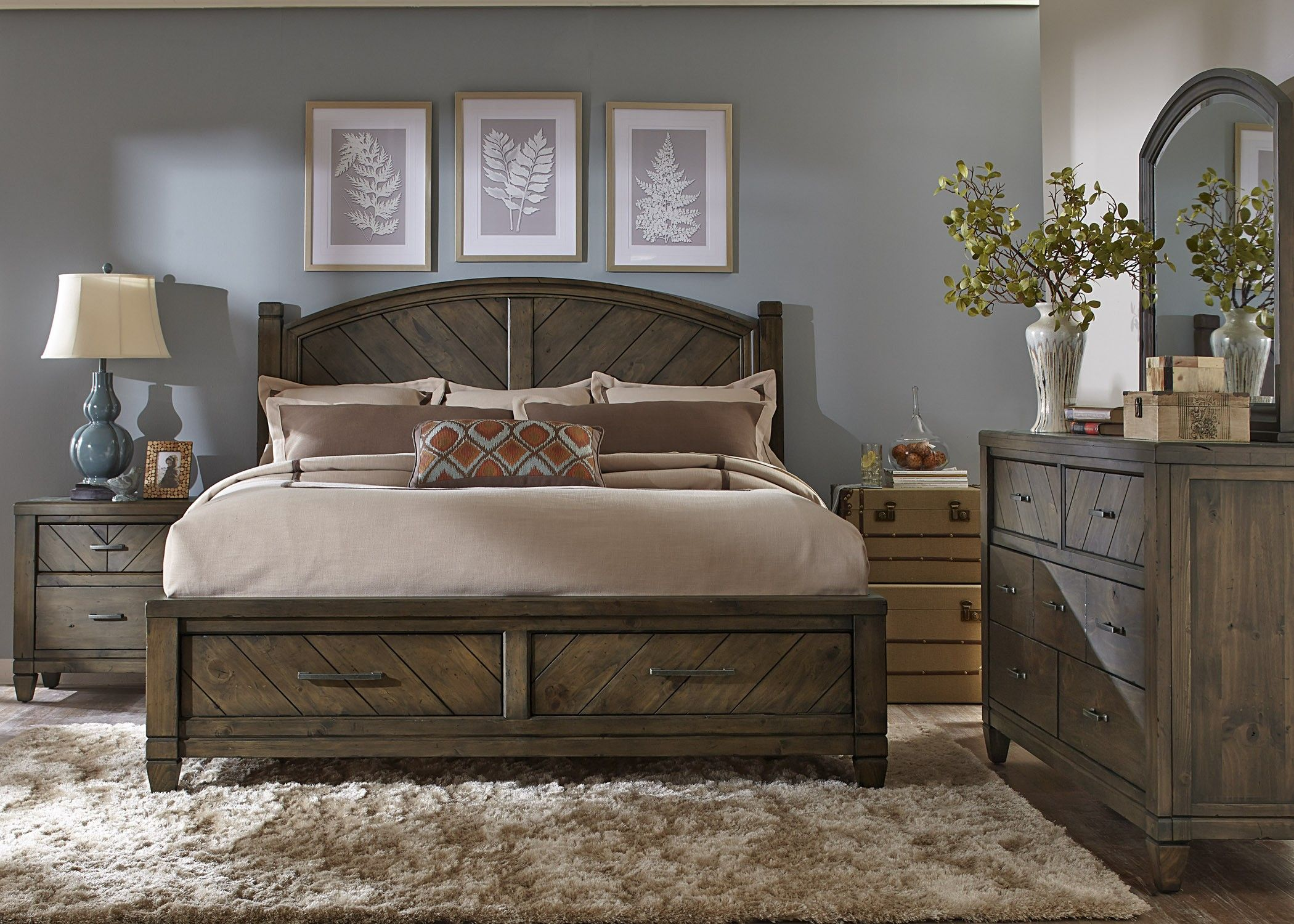Modern Country Bedroom Set | Bed frame with storage, Modern ...