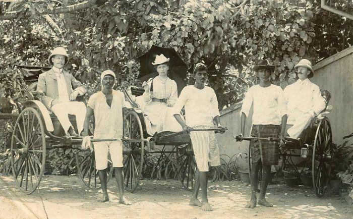 Image result for INDIAN PULLING BRITISHER ON RICKSHAW