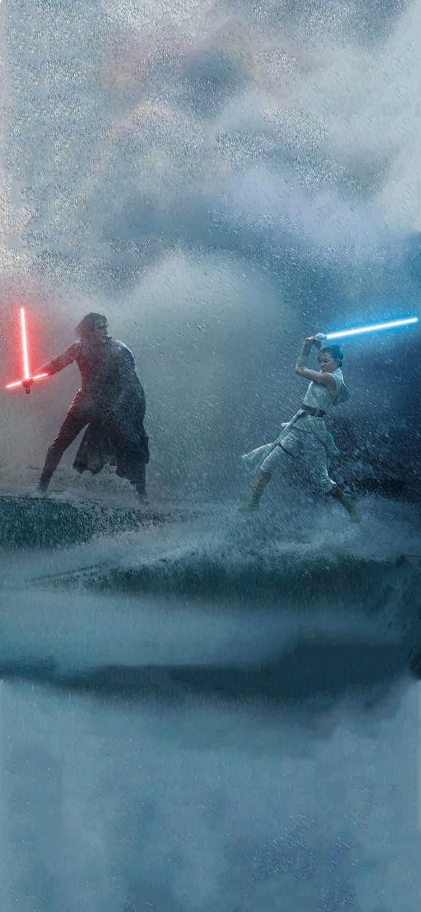 Here Is That Rey And Kylo Ren Fighting In The Rain Wallpaper Star Wars Background Star Wars Wallpaper Iphone Star Wars Wallpaper