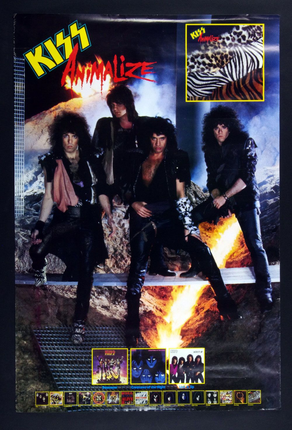 Kiss Animalize 1984 New Album Promo Vintage Poster 24 X 36 With