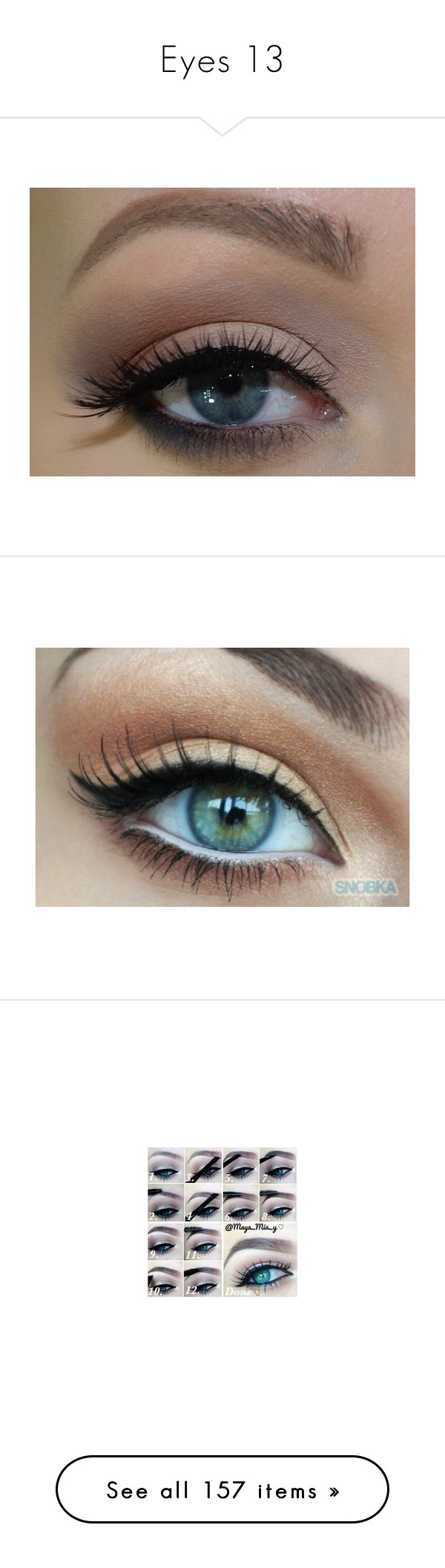 """""""Eyes 13"""" by o-hugsandkisses-x ❤ liked on Polyvore featuring beauty products, makeup, eye makeup, eyes, beauty, maquiagem, palette makeup, make, brow makeup and highlight makeup"""