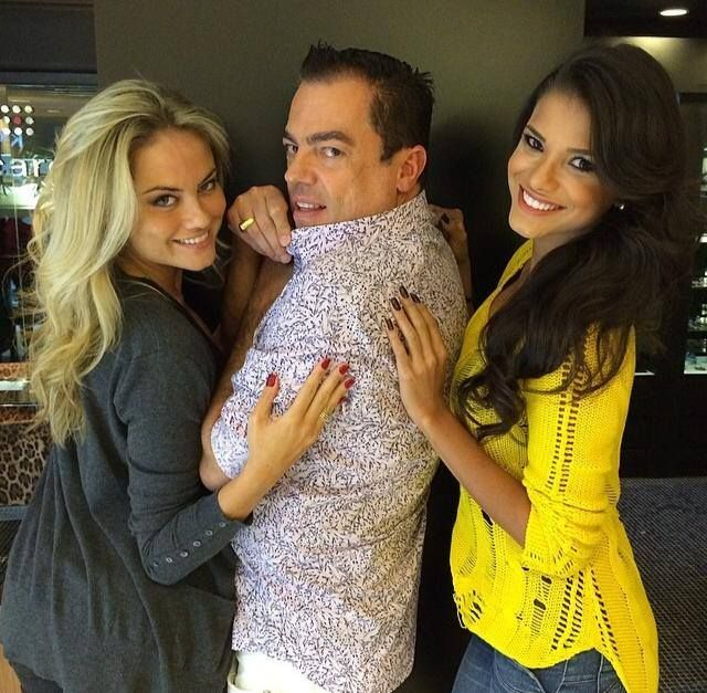 Entre duas deusas Ellen Rocche e a miss Brasil Jakelyne Oliveira aqui no MG Hair Design