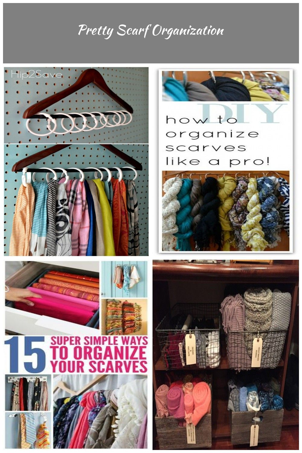 Inexpensive Way To Organize Scarves Scarf Organization Scarf