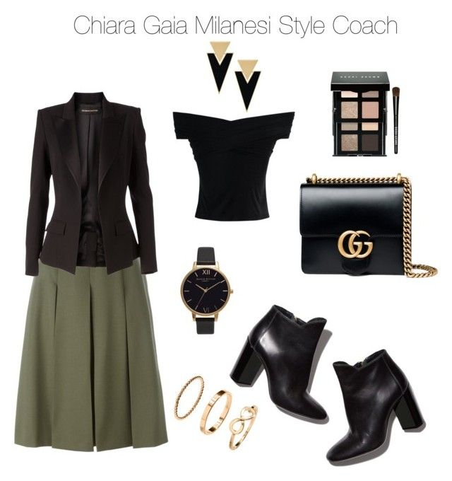 """Black & Green"" by chiara-gaia-milanesi on Polyvore featuring moda, Alexander McQueen, Chicwish, Alexandre Vauthier, Pierre Hardy, Gucci, Yves Saint Laurent, Olivia Burton, H&M e Bobbi Brown Cosmetics"