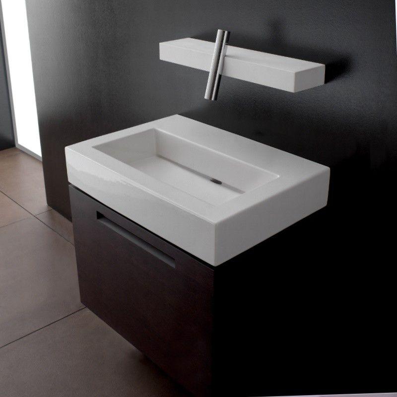 Treemme Waschtisch Blok Mit Ablaufschlitz Ohne Hahnloch 90cm Bad