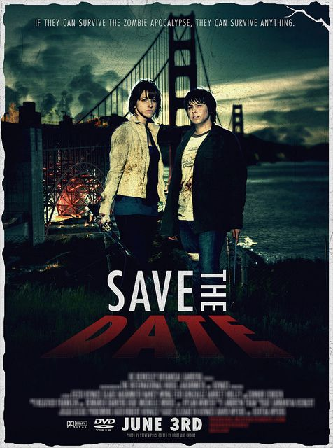 Movie poster save-the-date