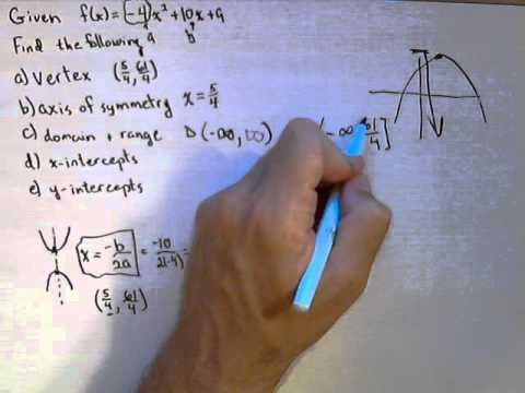 How To Graph A Quadratic Function Without A Calculator Common
