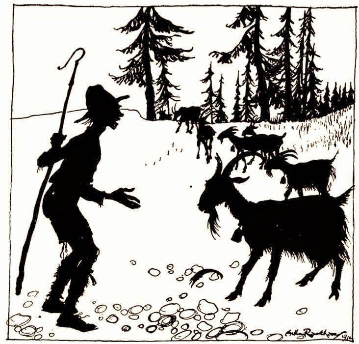 Die Ziege Und Der Ziegenhirte Ziege Hirte Und Fabeln