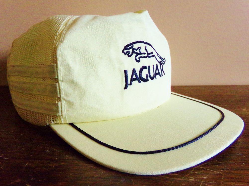 Jaguar Luxury Car Snapback Hat Light Yellow Mesh Back Embroidered Logo Hats For Men Snapback Hats Jaguar Luxury Car