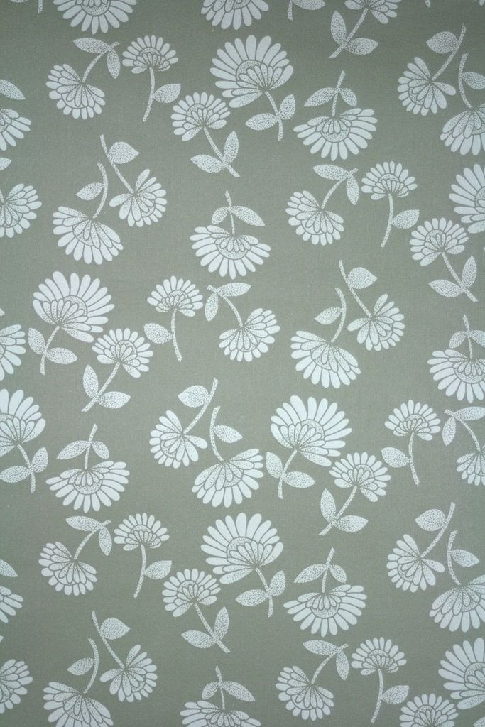 Modern Grey And White Floral Wallpaper Retro Wallpaper Floral Wallpaper Retro Wallpaper Wallpapers Vintage