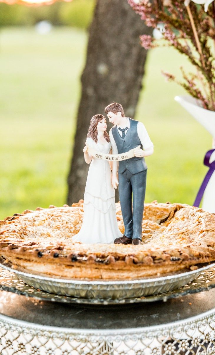 Such a cute wedding cake or pie topper! | Whimsical Weddings ...