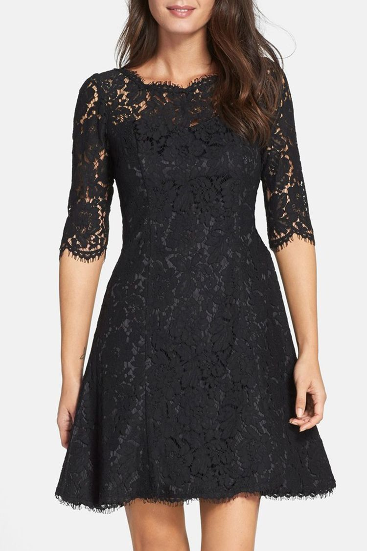 Petite Girls Rejoice We Found 10 Dresses Made To Flatter Your Frame Fit And Flare Cocktail Dress Dresses Red Lace Dress [ 1125 x 750 Pixel ]