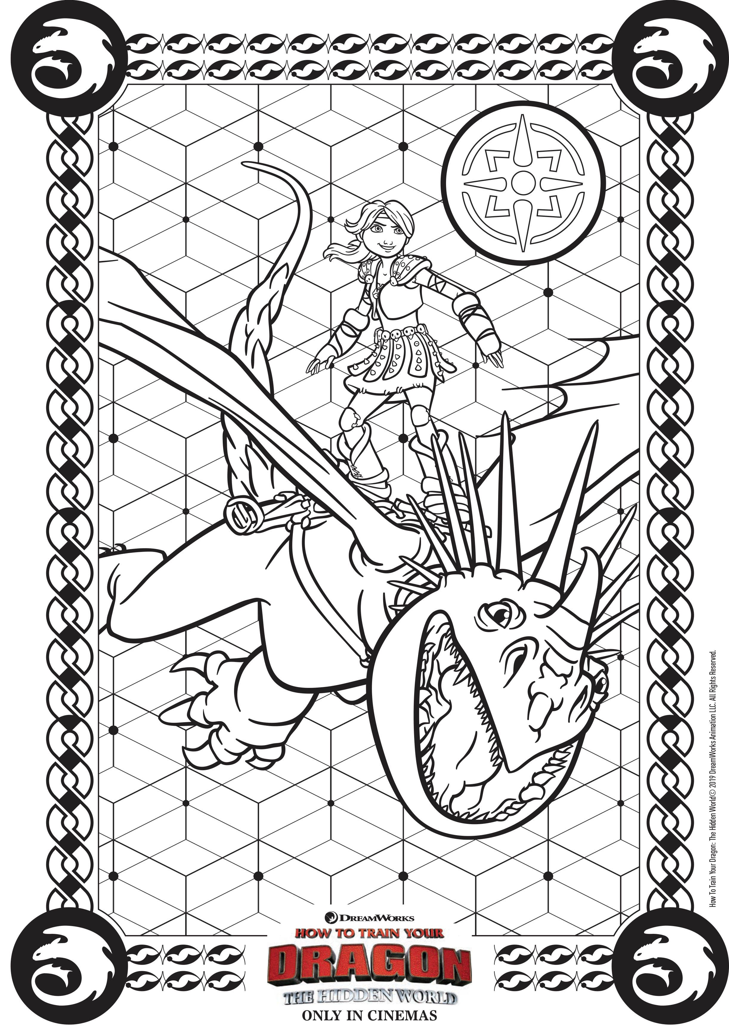 Coloriage Dragon 3 A Imprimer : coloriage, dragon, imprimer, Aidez, Astrid, Voler, Encore, Quelques, Couleurs, Partir, Galerie, Dragons, Coloriage, Dragon,, Coloriage,, Enfant