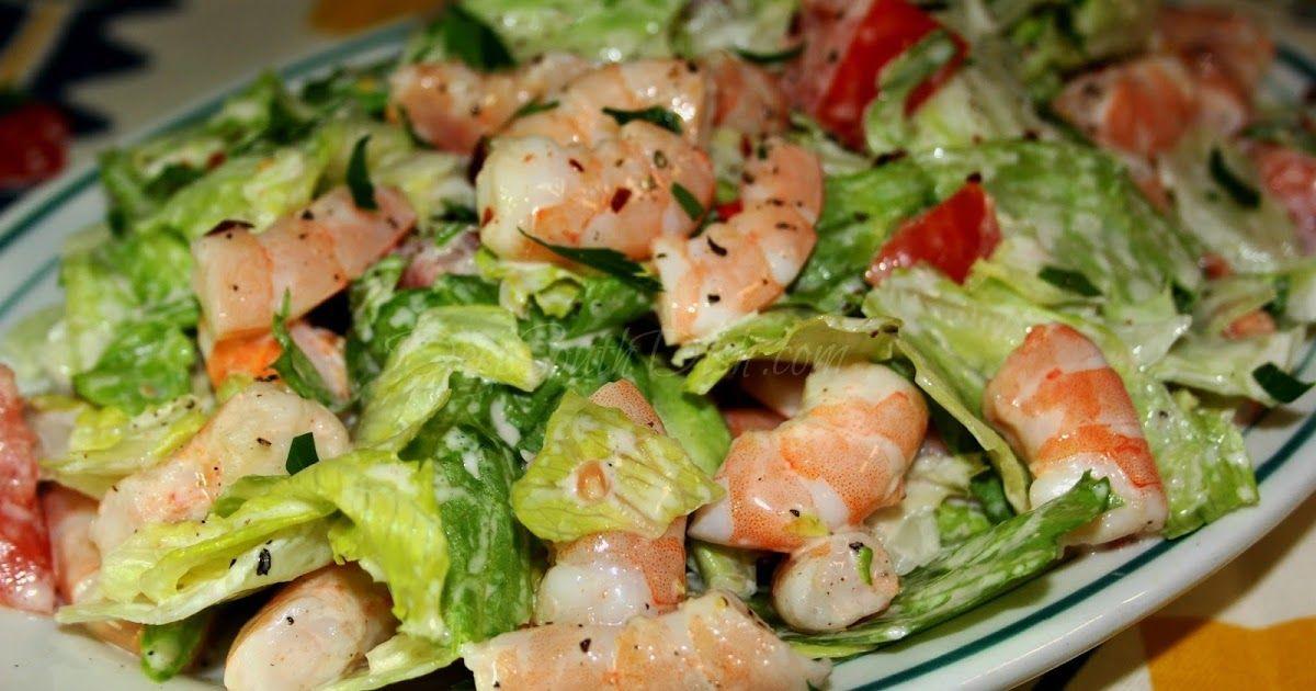 Shrimp and Iceberg Lettuce Salad in 2020 | Seafood recipes ...