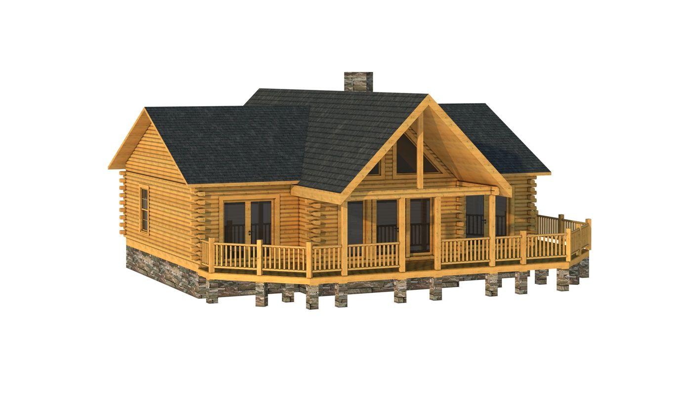 House · Oconee   Log Home Plan ...