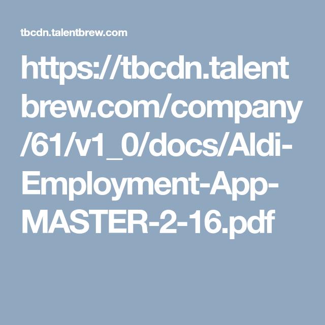 7 Best Aldi Application For Employment Ideas Employment Employment Application Aldi
