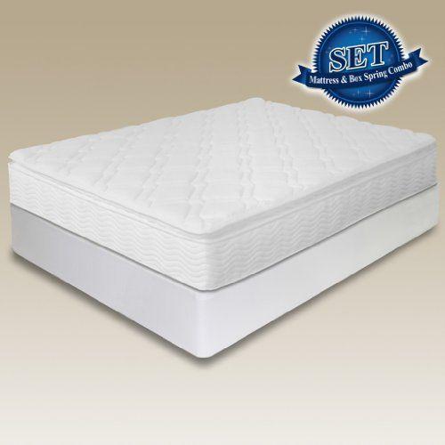 10 Sleep Master Supreme Pillow Top Spring Mattress Bi Fold Box Spring Set Twin By Sleep Master 325 00 Bi Fold Box Box Spring Metal Spring Spring Set