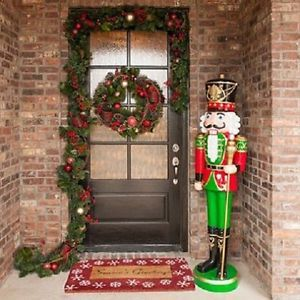 lifesize nutcracker 6 christmas soldier decorations holiday indoor outdoor home - Life Size Nutcracker Outdoor Christmas Decorations