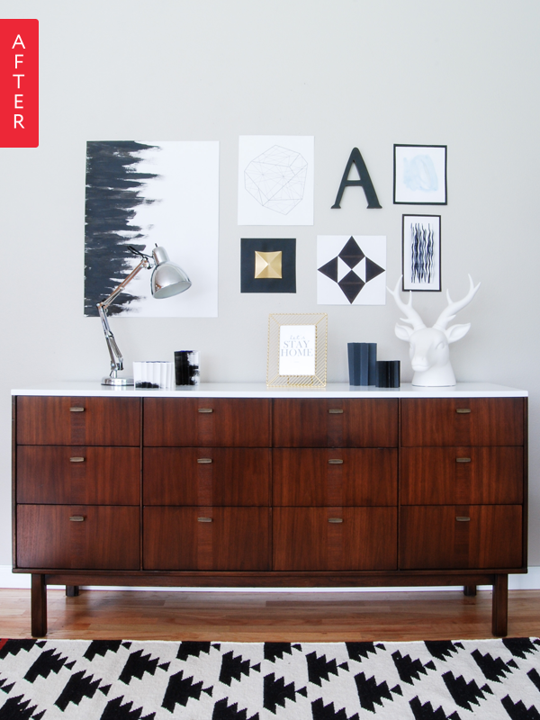 Before & After: Credenza Gets a Fresh Finish   Apartment Therapy