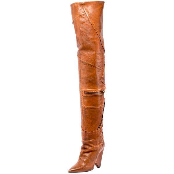 69b21837238 Saint Laurent Niki Leather Zip Over-The-Knee Boot ( 3