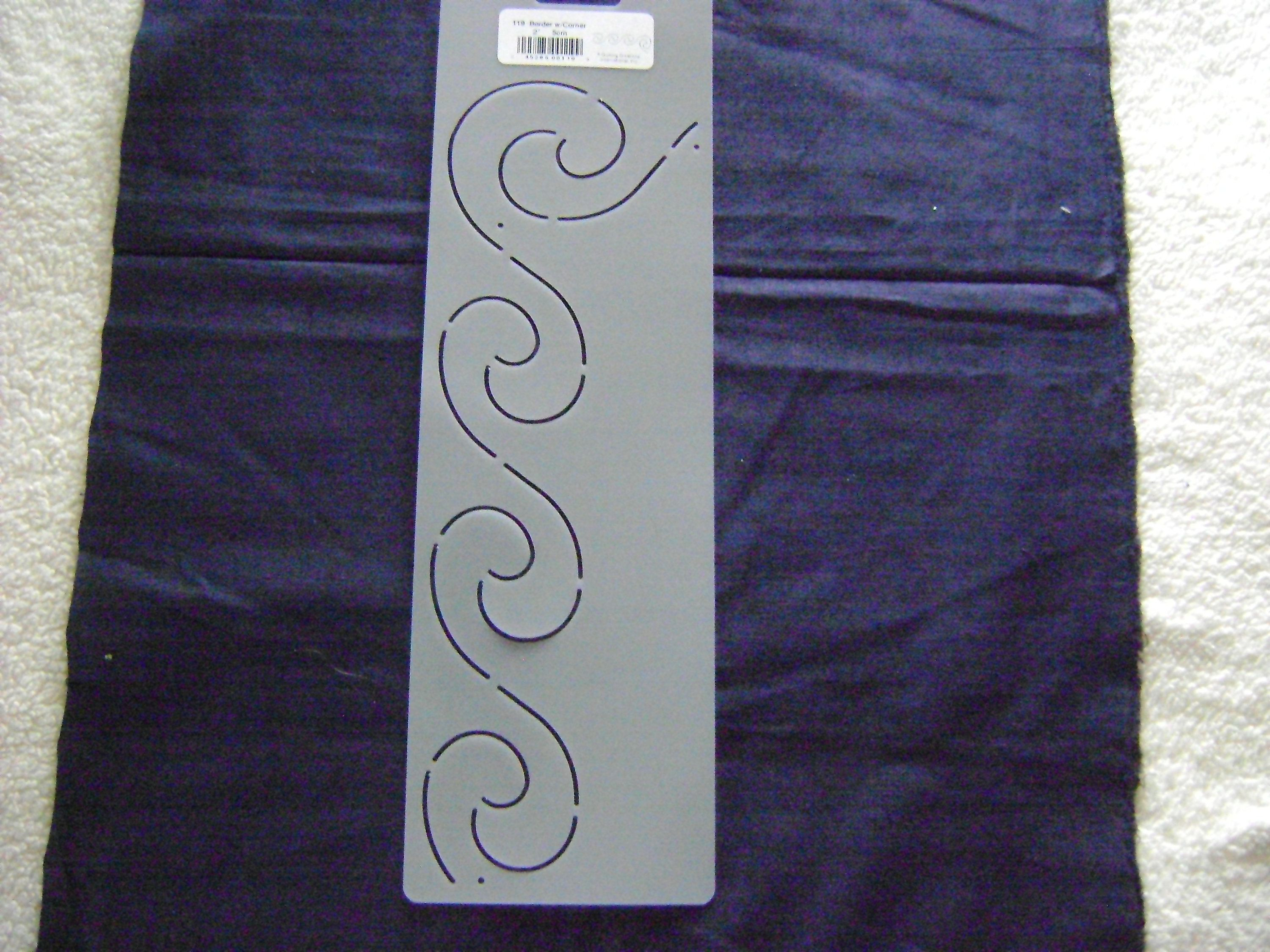 sashiko japanese or traditional quilting stencil 2 in 5 cm by 11
