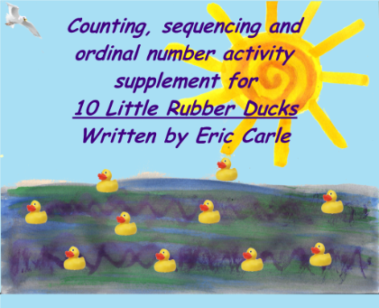 10 Little Rubber Ducks Counting Eric Carle Activities Interactive Classroom Rubber Duck