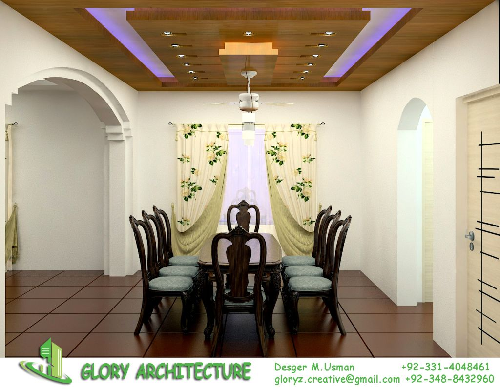 Print Majlis Dining Ceiling Design Architectural House Plans